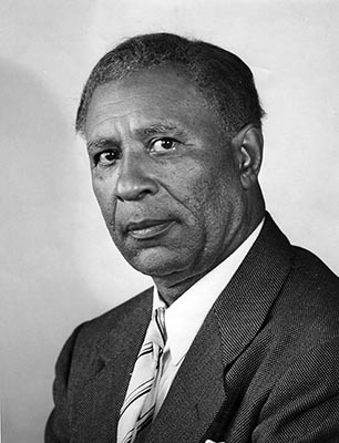 Garrett A. Morgan.  September 28, 1945  (Cleveland News file photo)