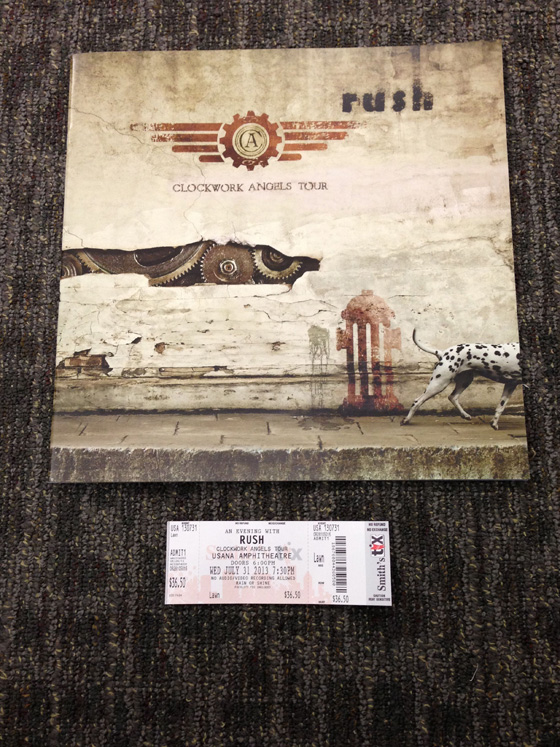 Clockwork Angels tourbook and ticket