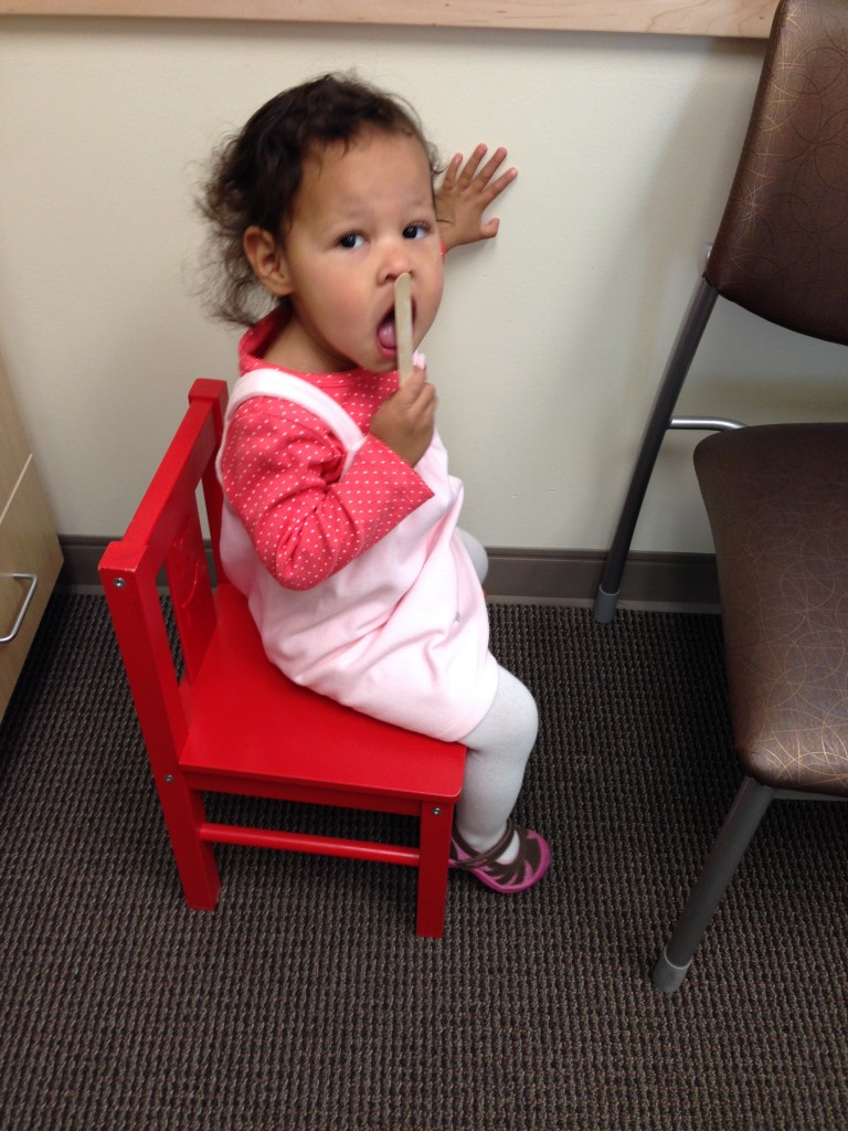 Vanessa, waiting for Diana to see the pediatrician...