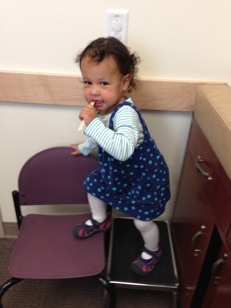 Diana, waiting for the pediatrician...