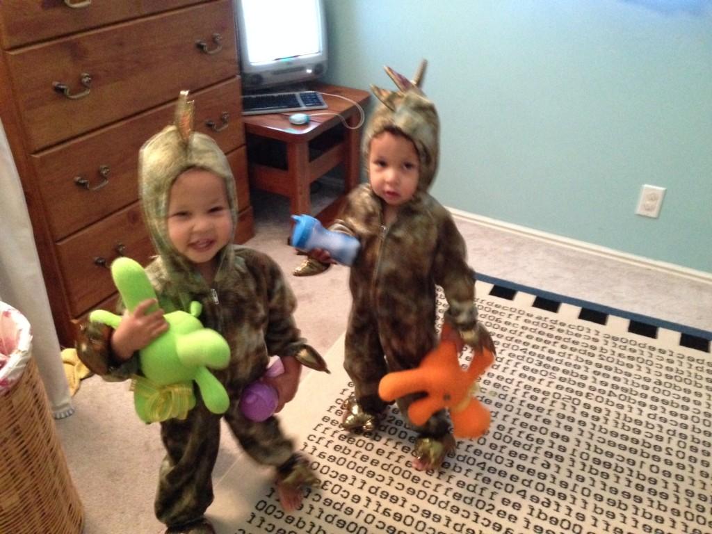 Dinosaurs love teddy bears. Who knew?!