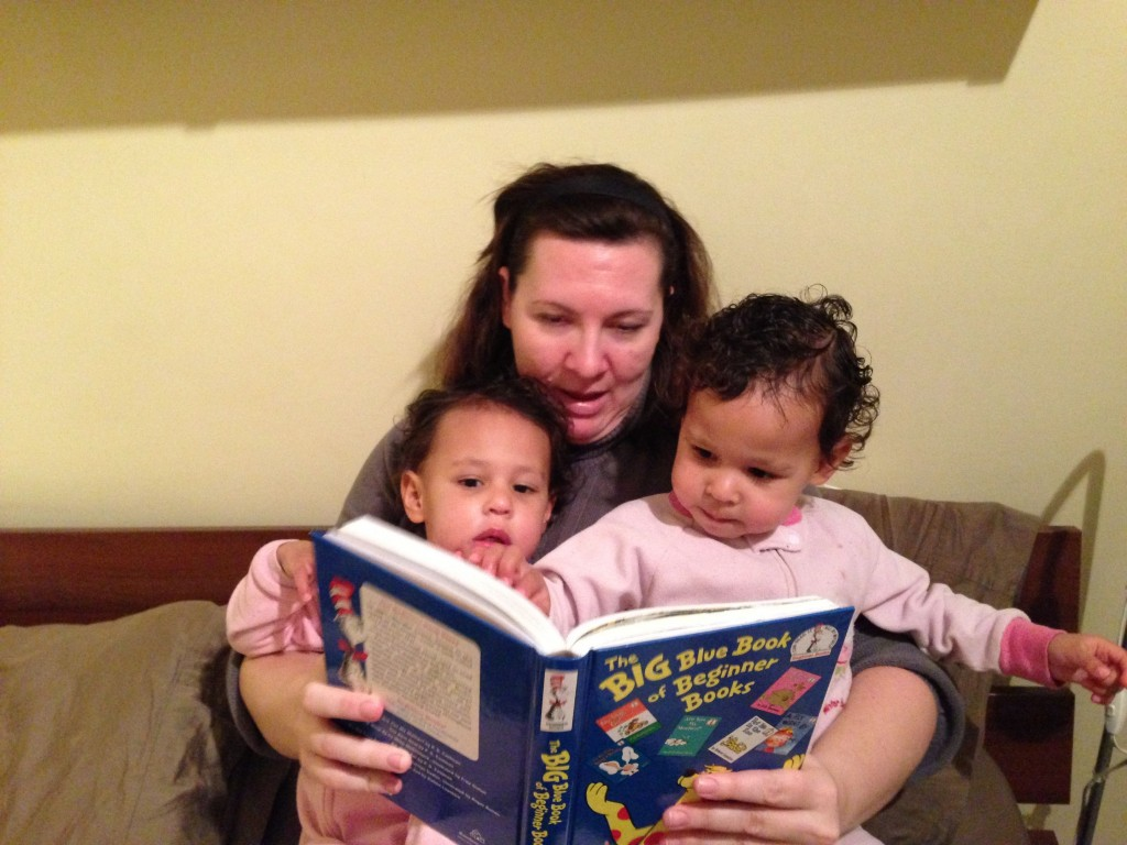 Reading time with Mommy