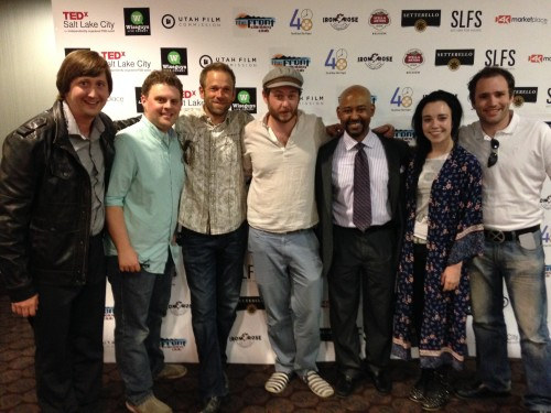 Some of the Dr. Bill's cast and crew with Bill Higgins (center), Director of 48HFP -SLC