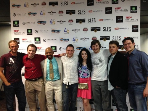 "Some members of the Cast and Crew of ""Dr. Bill's Discount Sychaiatry"" at the 48 Hour Film Project screening"