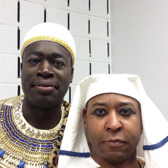 Derrick Parker (Ramfis) and Robert (Captain)