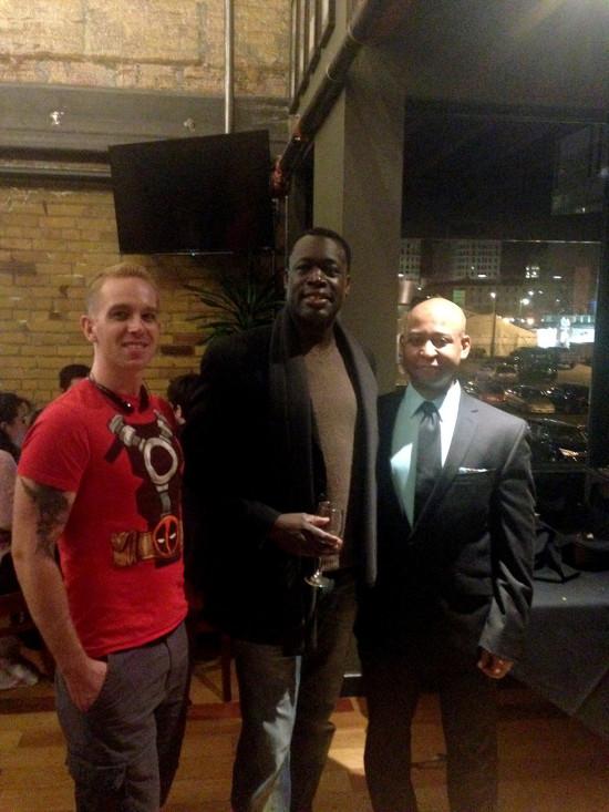 Roy Dawson (Guard), Derrick Parker (Ramfis), and me