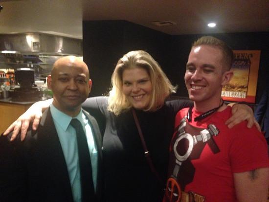 With Jennifer Cheek (Aida) and Roy Dawson (Guard)