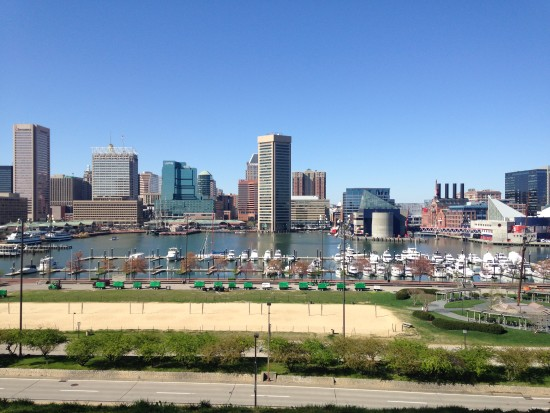 The Inner Harbor (taken from Federal Hill)